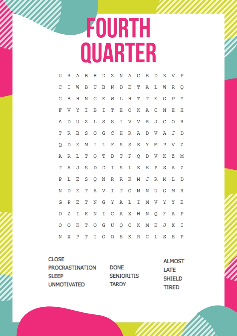 fourth quarter word search