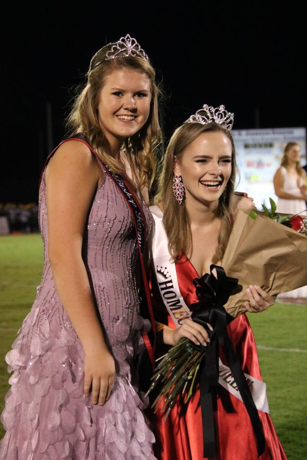 Miss Bishop Kenny crowns Dailey Jackson for Homecoming Queen.