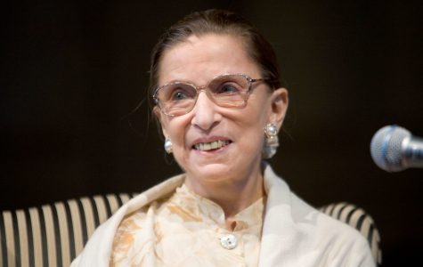Associate Supreme Court Justice Ruth Bader Ginsburg visits Wake Forest University.