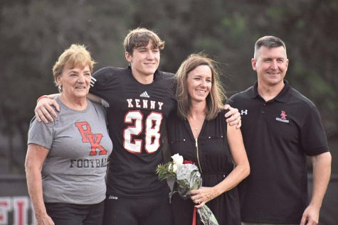 Senior Sean Meisler and family.