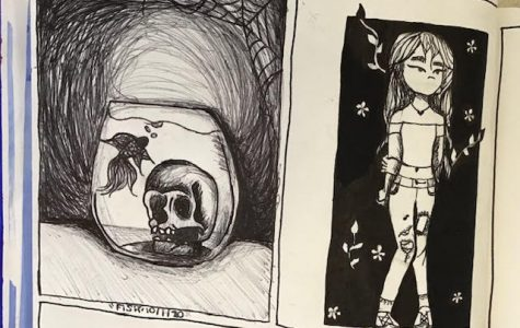Junior Kalia Smith's submission for days one and two of Inktober.