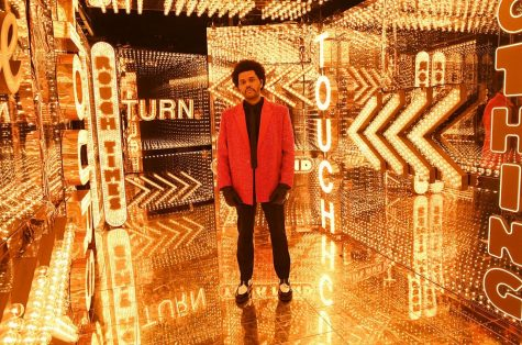 The Weeknd performed solo for the Super Bowl LV halftime show.
