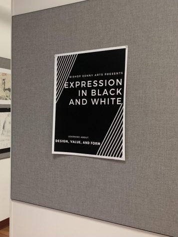 """The theme of the night's art gallery is """"Expression in Black and White""""."""