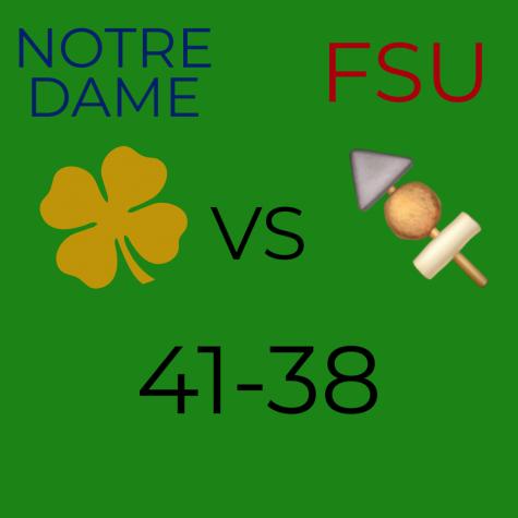Noles fall to the Irish