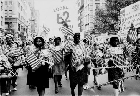United States citizens marching in the Labor Day parade